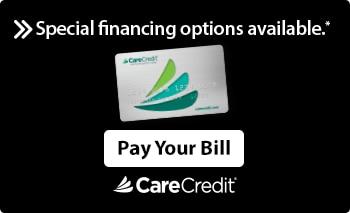 The Logo the finance company CareCredit.